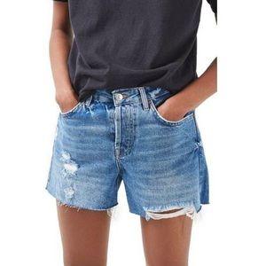 Topshop distressed denim shorts - Never worn